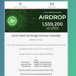 Airdrop làm nhiệm vụ nhận 70 LTE trị giá 17.5 euro