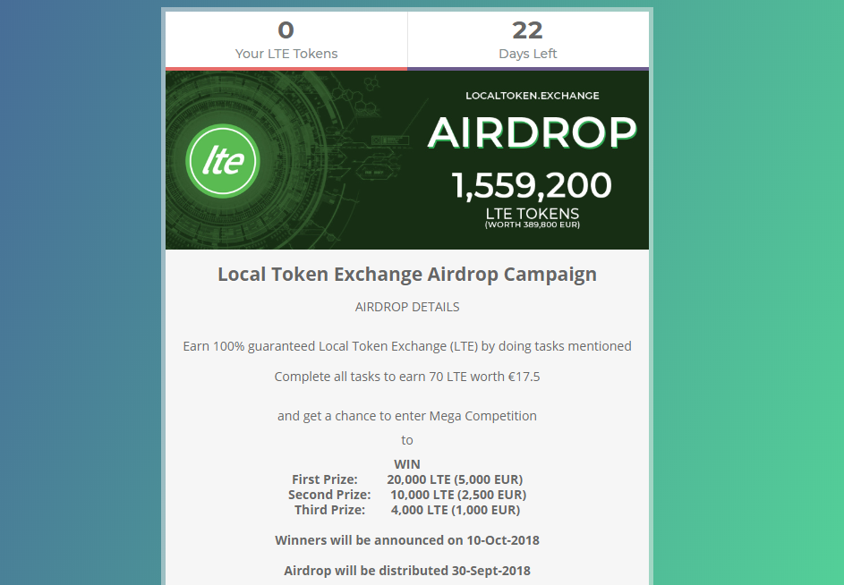 nhận Local Token Exchange Airdrop