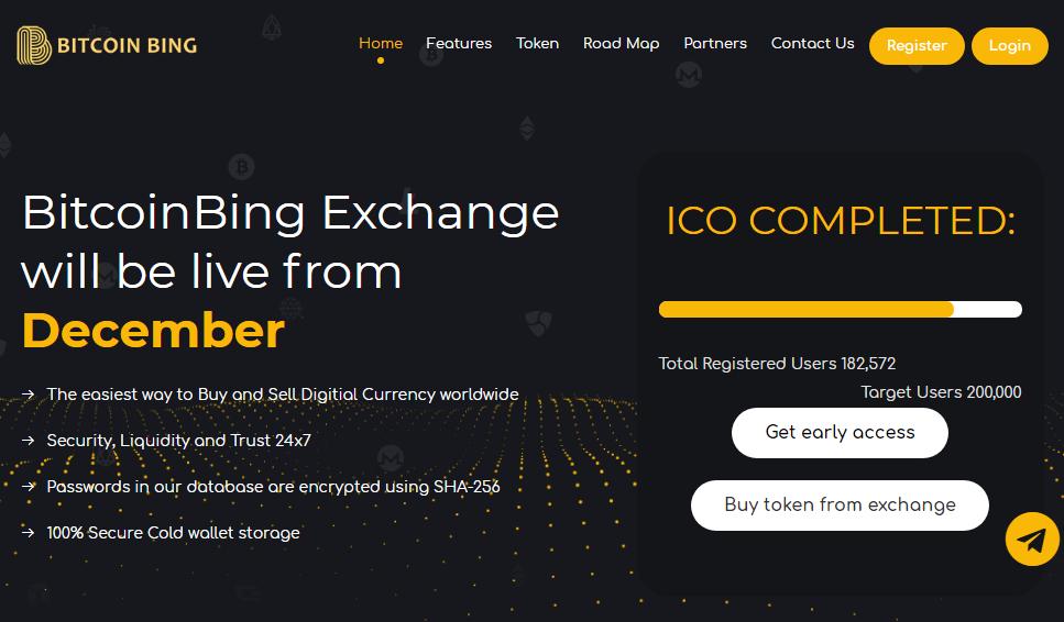 token bitcoinbing