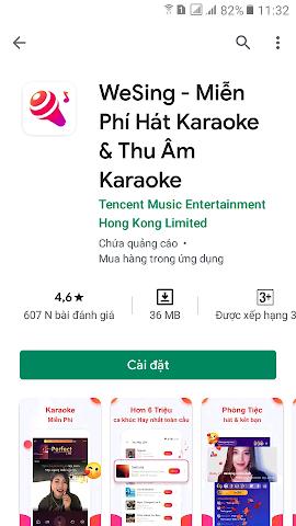 hướng dẫn tải app wesing từ chplay và app store