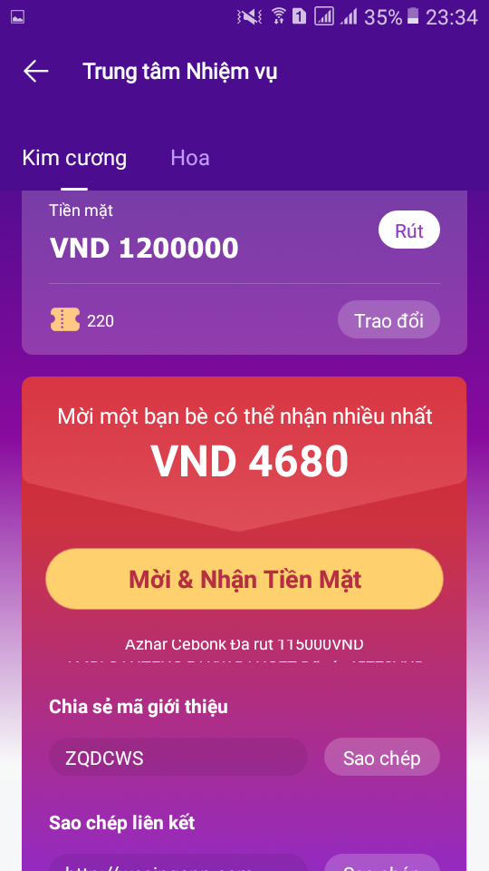 kiếm tiền với we sing app