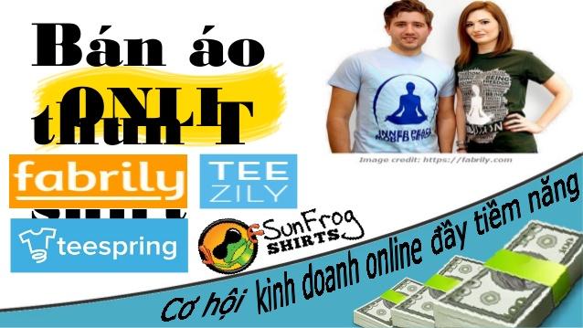 bán áo thun kiếm tiền - thiết kế áo và bán hàng