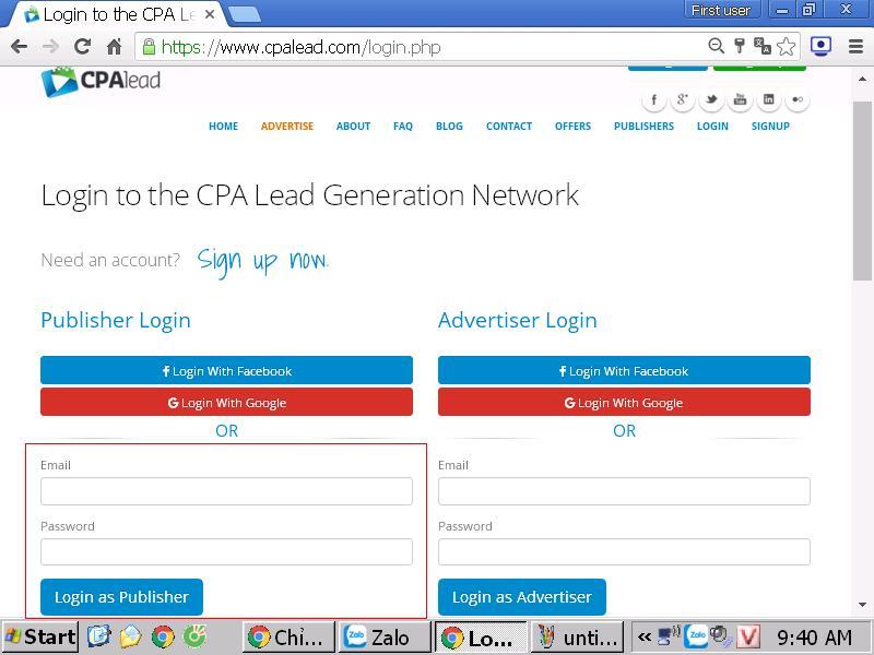 hướng dẫn cách đăng nhập website cpalead để kiếm tiền